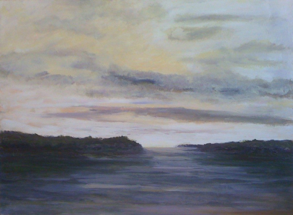 """Hussey Passage - Oil on Canvas - 36""""x40"""""""