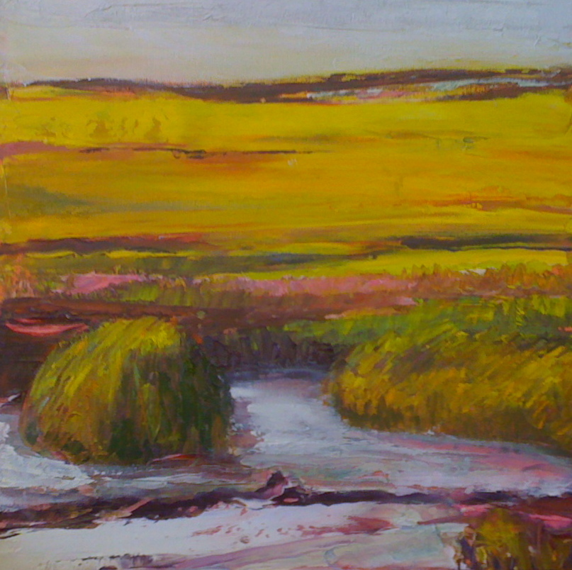 """Pink Mud - Oil on Canvas  - 12""""x12"""""""
