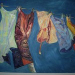 Laundry Line Oil on Canvas - SOLD