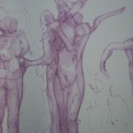 Dance/Dialogue Drypoint