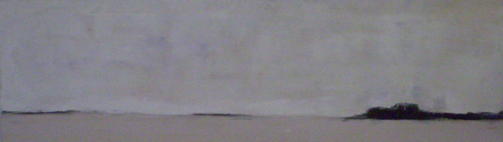 """Thin Gray Line - Oil on Canvas - 12""""x39"""" - SOLD"""