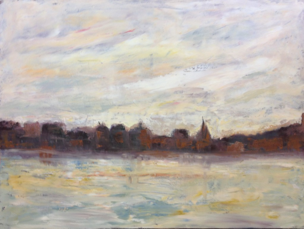 """Red Brick City- Oil on Canvas - 40""""x30"""" - SOLD"""